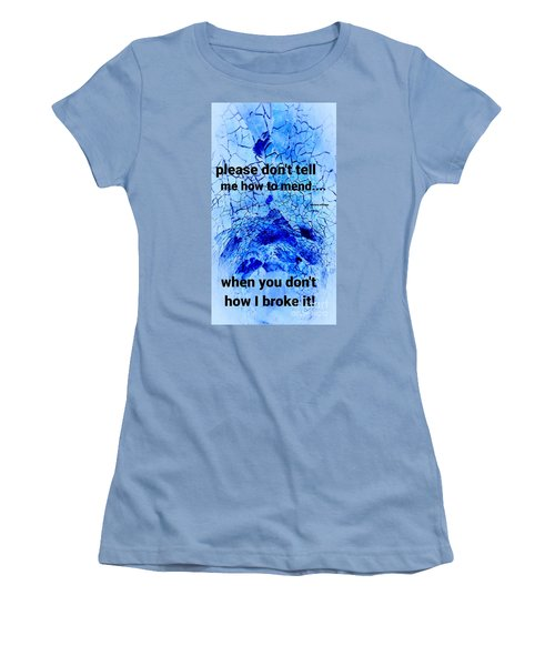 It's Broke Women's T-Shirt (Athletic Fit)