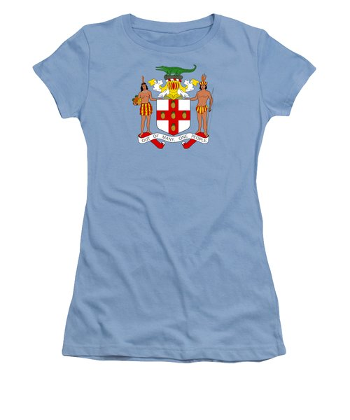 Jamaica Coat Of Arms Women's T-Shirt (Junior Cut) by Movie Poster Prints