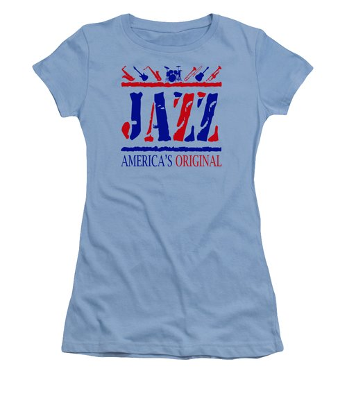 Jazz Americas Original Women's T-Shirt (Junior Cut) by David G Paul