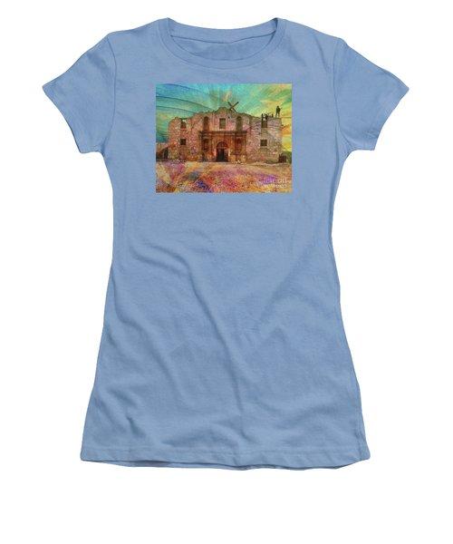 John Wayne's Alamo Women's T-Shirt (Junior Cut) by John Robert Beck