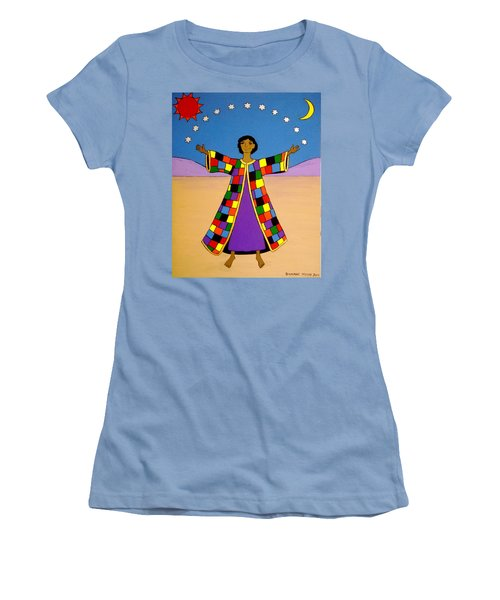 Women's T-Shirt (Junior Cut) featuring the painting Joseph And His Coat Of Many Colours by Stephanie Moore