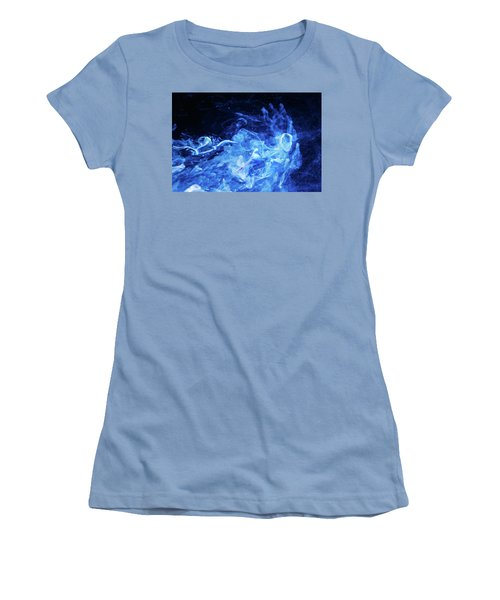 Just Passing By - Blue Art Photography Women's T-Shirt (Athletic Fit)