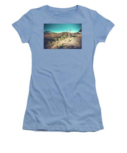 Kaupo Other Road To Hana Sunset Piilani Highway Maui Hawaii Women's T-Shirt (Junior Cut) by Sharon Mau