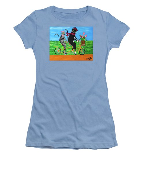Kitty Cat Outing Women's T-Shirt (Athletic Fit)