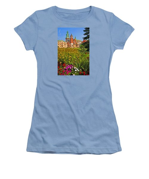 Krakow Castle Women's T-Shirt (Athletic Fit)