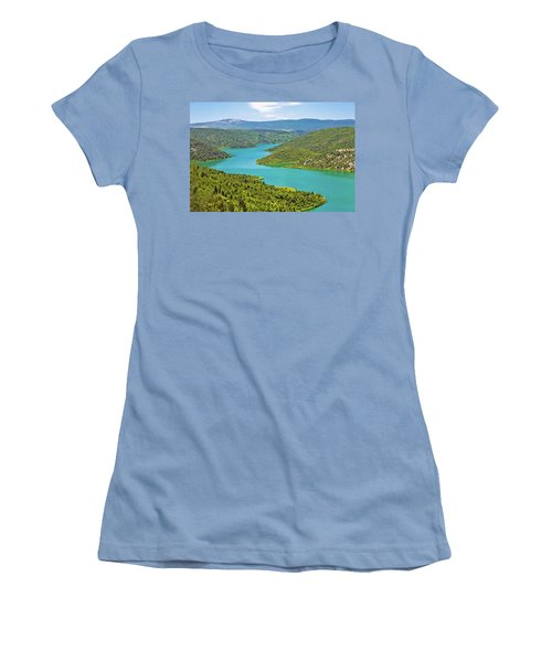 Krka River National Park View Women's T-Shirt (Athletic Fit)