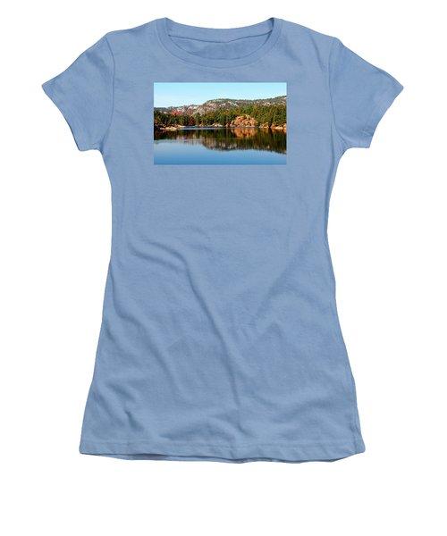 Women's T-Shirt (Junior Cut) featuring the photograph La Cloche Mountain Range by Debbie Oppermann