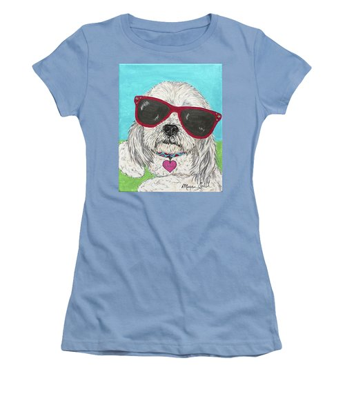 Laci With Shades Women's T-Shirt (Athletic Fit)