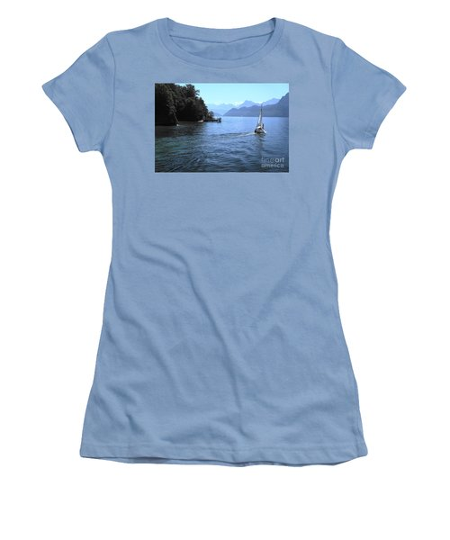 Lake Lucerne Women's T-Shirt (Junior Cut) by Therese Alcorn