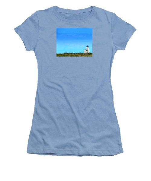 Lake Michigan Lighthouse Women's T-Shirt (Athletic Fit)