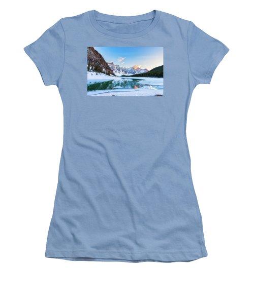 Lake Moraine Sunset Women's T-Shirt (Athletic Fit)