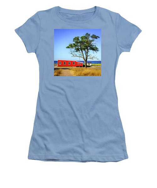 Women's T-Shirt (Junior Cut) featuring the photograph Lakefront In Glen Arbor by Alexey Stiop