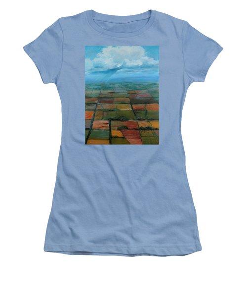 Land Art Women's T-Shirt (Athletic Fit)