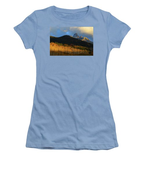 Women's T-Shirt (Junior Cut) featuring the photograph Late Afternoon Light On The San Juans by Jetson Nguyen