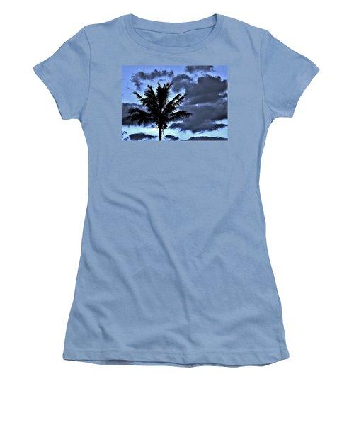 Late Day Palm Women's T-Shirt (Junior Cut) by John Wartman
