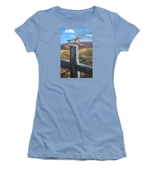 Women's T-Shirt (Junior Cut) featuring the painting Triumphant by Randol Burns
