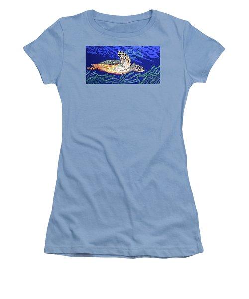 Life In The Slow Lane Women's T-Shirt (Junior Cut) by Debbie Chamberlin