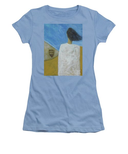 Women's T-Shirt (Junior Cut) featuring the painting Lifeboat by Glenn Quist