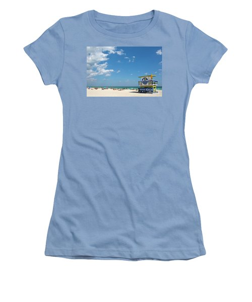 Lifeguard Station Miami Beach Florida Women's T-Shirt (Athletic Fit)