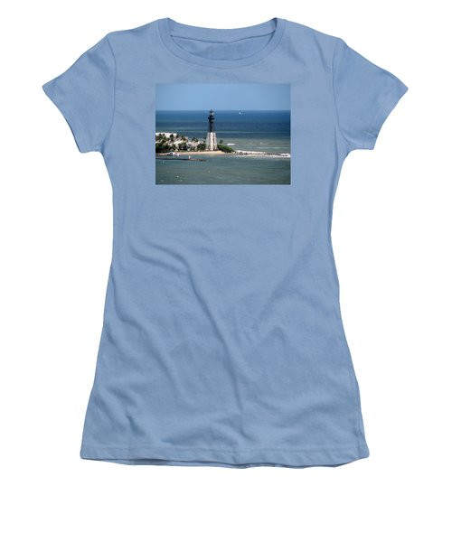 Lighthouse At Hillsboro Beach, Florida Women's T-Shirt (Athletic Fit)