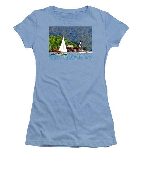 Lighthouse Sailors Smith Mountain Lake Women's T-Shirt (Junior Cut) by The American Shutterbug Society