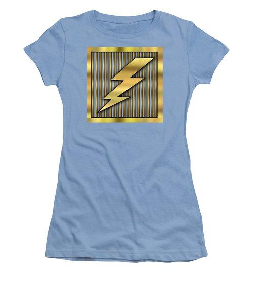 Lightning Bolt Women's T-Shirt (Junior Cut) by Chuck Staley