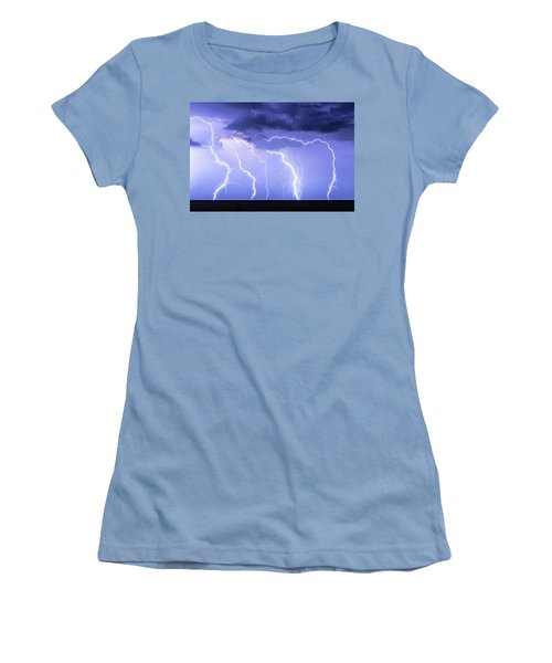 Lightning On The Plains Women's T-Shirt (Athletic Fit)