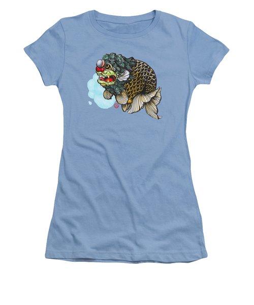 Lion Head Ranchu Women's T-Shirt (Junior Cut) by Shih Chang Yang