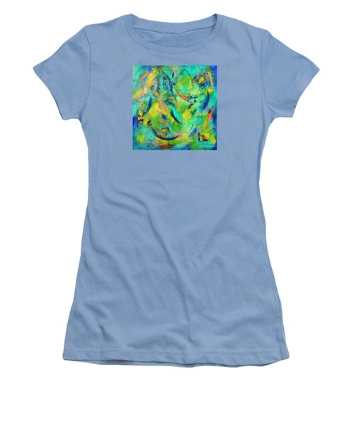 Little Fishes Women's T-Shirt (Junior Cut) by Lyn Olsen