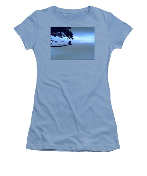 Little Owl Watching Women's T-Shirt (Athletic Fit)
