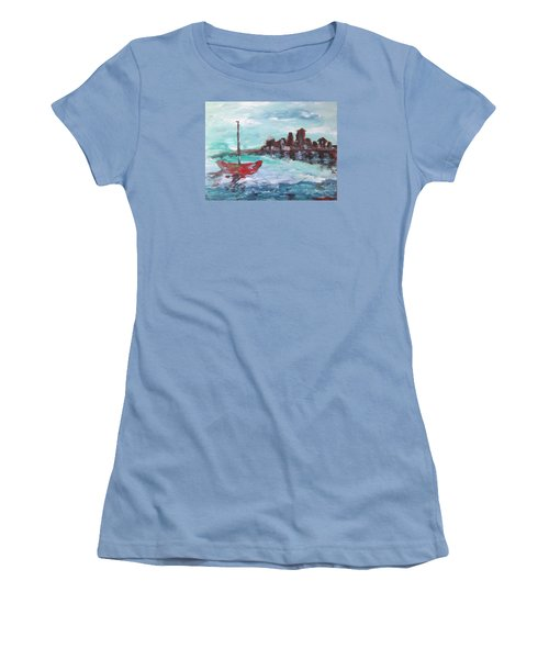 Coast Women's T-Shirt (Junior Cut) by Roxy Rich