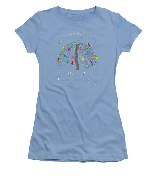 Living In Harmony Women's T-Shirt (Athletic Fit)