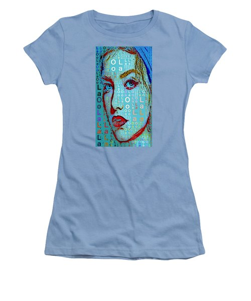 Women's T-Shirt (Athletic Fit) featuring the digital art Lola Knows by Rafael Salazar