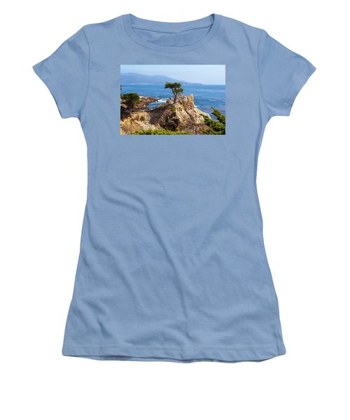 Lone Cypress Women's T-Shirt (Junior Cut) by Lou Ford