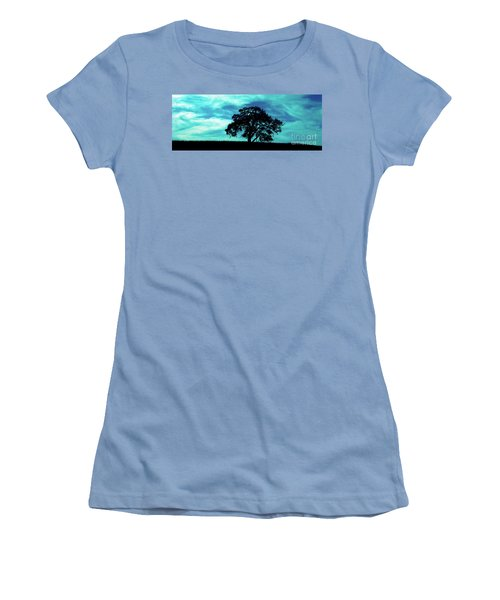 Women's T-Shirt (Junior Cut) featuring the photograph Lone Oak by Jim and Emily Bush