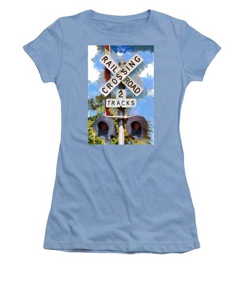 Look Both Ways Women's T-Shirt (Junior Cut) by Lynne Jenkins