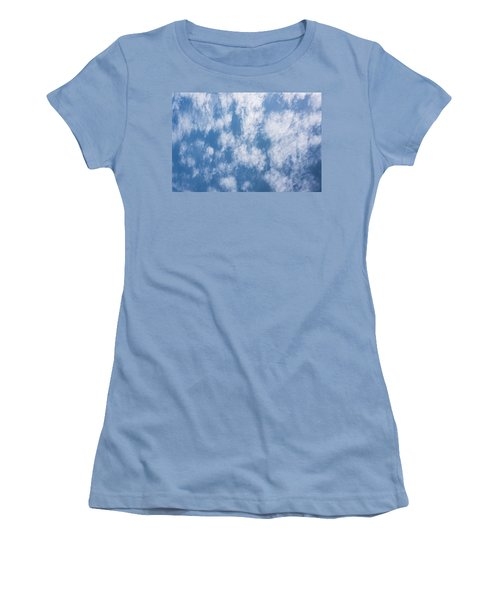 Look Up Not Down Clouds Women's T-Shirt (Junior Cut) by Terry DeLuco