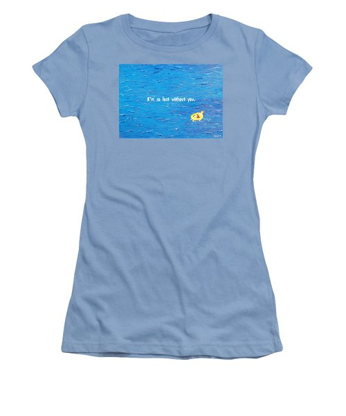 Lost Without You Greeting Card Women's T-Shirt (Athletic Fit)