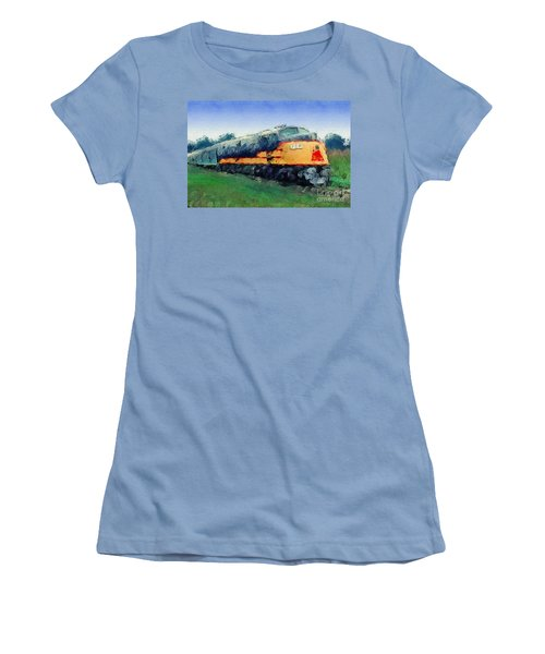 Louisville And Nashville E6a Diesel Locomotive Women's T-Shirt (Junior Cut) by Wernher Krutein
