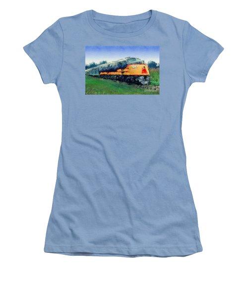 Louisville And Nashville E6a Diesel Locomotive Women's T-Shirt (Athletic Fit)
