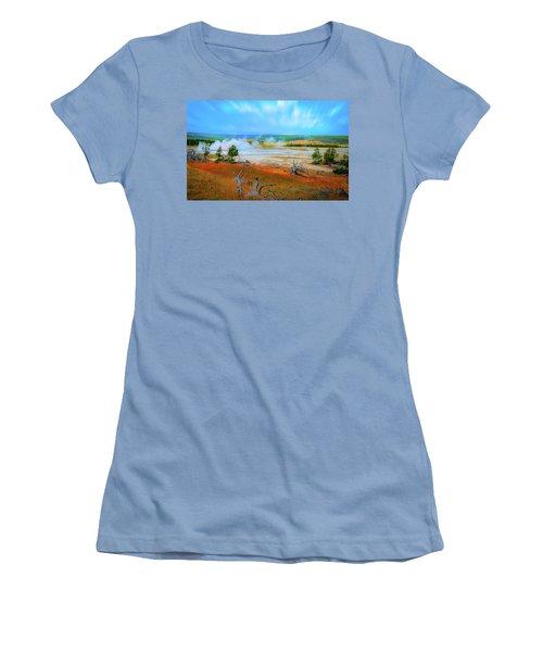 Lower Basin Women's T-Shirt (Junior Cut) by Mark Dunton
