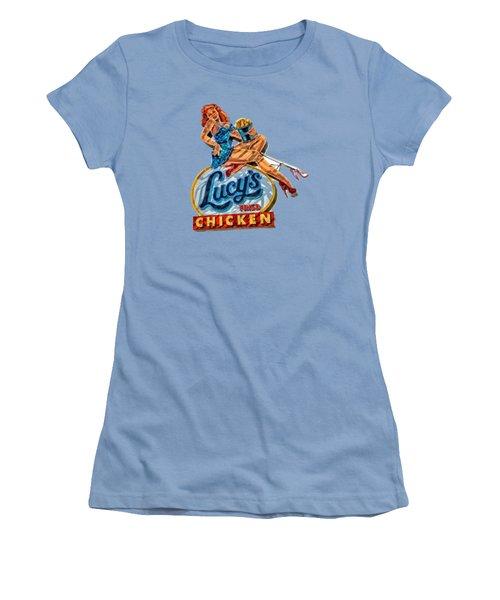 Lucys Fried Chicken Tee Women's T-Shirt (Junior Cut) by Edward Fielding