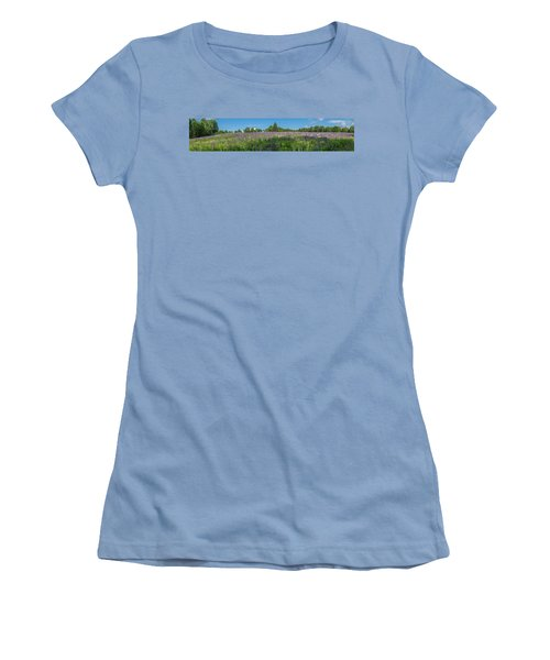 Lupine Field Women's T-Shirt (Athletic Fit)