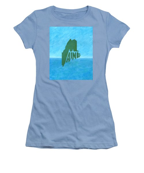 Maine Wordplay Women's T-Shirt (Athletic Fit)