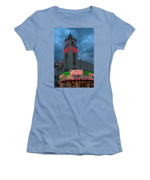 Majestic Fox Theater Neon Tribute Merle Haggard Women's T-Shirt (Athletic Fit)