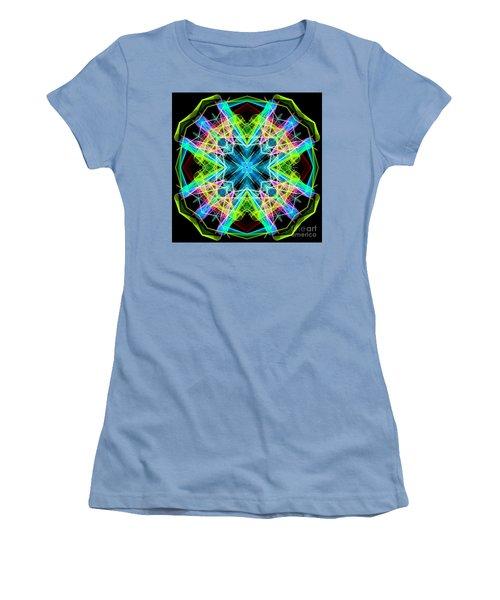 Women's T-Shirt (Athletic Fit) featuring the digital art Mandala 3308a  by Rafael Salazar
