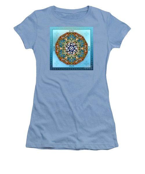 Mandala Shalom Women's T-Shirt (Athletic Fit)