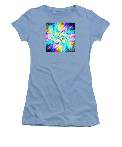 Women's T-Shirt (Junior Cut) featuring the photograph Mandala Twirl 03 by Jack Torcello
