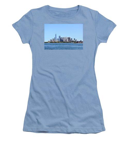 Manhattan Skyline 1 Women's T-Shirt (Athletic Fit)