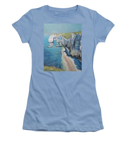 Manneport, The Cliffs At Etretat Women's T-Shirt (Athletic Fit)